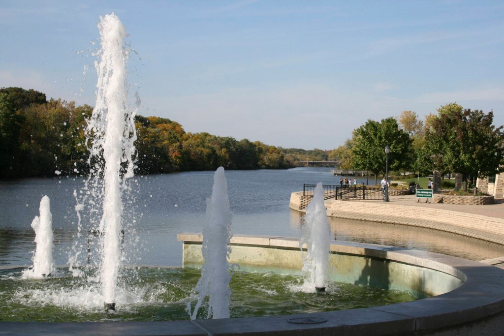 Fountains Overlooking the Fox River