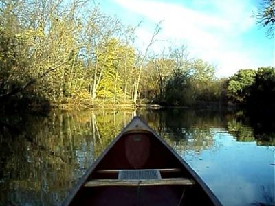 Calm waters solo canoe