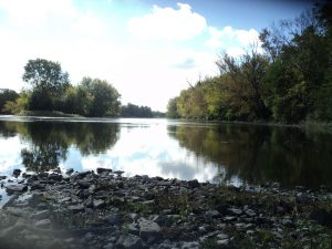 Fox River gravel bar