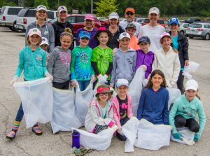 Girl Scouts cleanup in Batavia