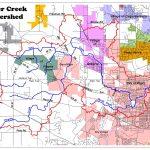 Tyler Creek watershed map