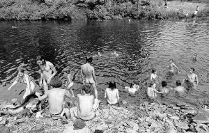 Skinny dipping at Woodstock, 1969. By Baron Wolman