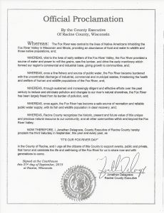 Proclamation - Racine County