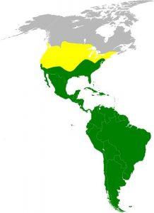 Turkey vulture range