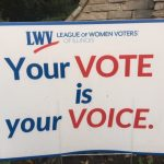 our vote is your voice sign