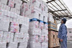 tissue stockpiled