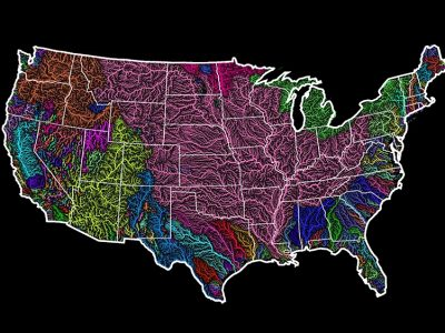 us-watershed-map